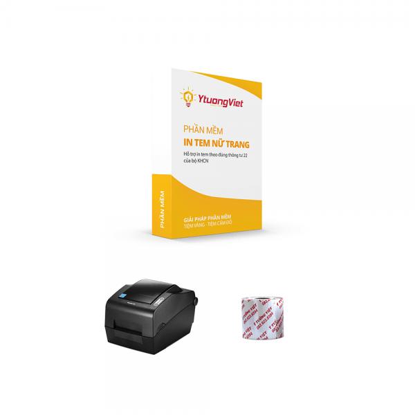 Trọn gói phần mềm in tem nữ trang Bixolon TX400